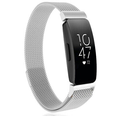 AU12.12 • Buy Stainless Steel Magnet Metal Loop Strap Band For Fitbit Inspire /Inspire HR 2019