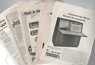 1950s Vintage Audio Equipment Record & Tape Players Original Adverts £4.75 Each • 4.75£