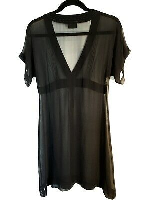 $ CDN77.80 • Buy Akira Size 8 10 Black Silk Dress