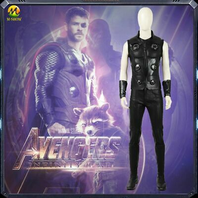 $ CDN262.19 • Buy Avengers 3 Thor Cosplay Costume Vest Pants Boots Men Halloween Costumes Any Size