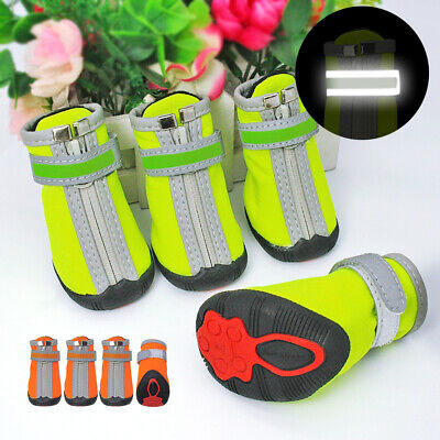£19.82 • Buy Reflective Dog Boots Shoes Waterproof Anti Slip Snow Rain Paw Protector Booties