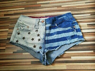 Ladies Soul Cal At Republic  Size 6 W28 Denim Jean Hot Pant Shorts Beach Holiday • 4.99£