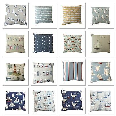 £7.99 • Buy Nautical Seaside Boats Beach Huts Yachts Cushions Covers Various Styles & Sizes
