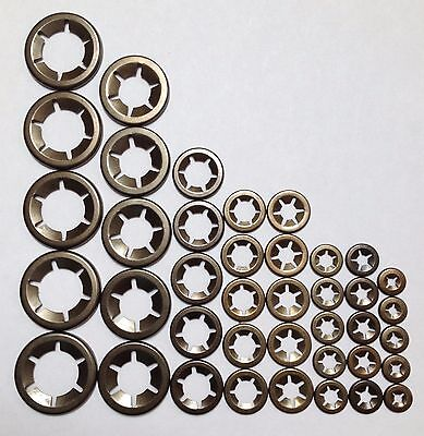 £5.25 • Buy Locking Washers Speed Clips Fasteners Assortment Internal Tooth Star-Lock