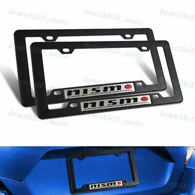 $11.77 • Buy 2PCS NISMO Car Trunk Emblem With ABS License Plate Tag Frame For Nissan GTR 350Z