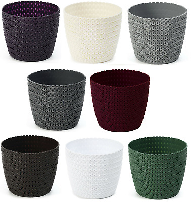 £5.39 • Buy Round Plant Pot Cover Flowerpot Indoor Outdoor Large Without Drainage Holes