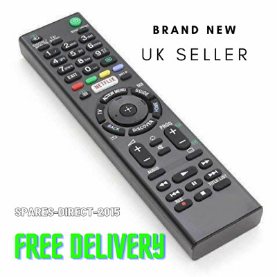 £5.99 • Buy Replacement For Sony TV Remote Control With NETFLIX Button RMT-TX100D