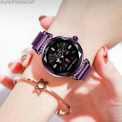View Details Women Lady Smart Watch Heart Rate Fitness Tracker Purple For IOS Android Gifts • 24.50£
