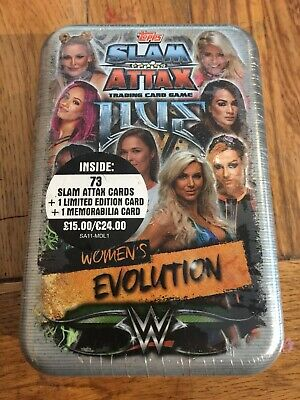 Ww Slam Attax Live Trading Card Mega Tins Womens Evolution + Legends Of The Ring • 6£