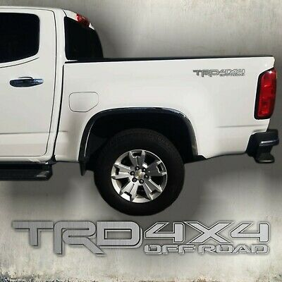 $25.99 • Buy TOYOTA TRD 4X4 Off Road, Brushed Chrome Decal Sticker  CUT (set)
