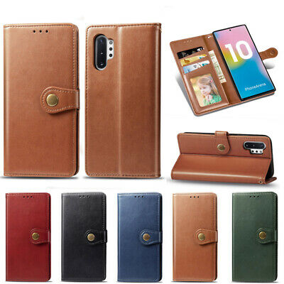 $ CDN6.47 • Buy For Samsung Galaxy Note 10 Plus S10+ A70 Vintage Leather Flip Wallet Case Cover