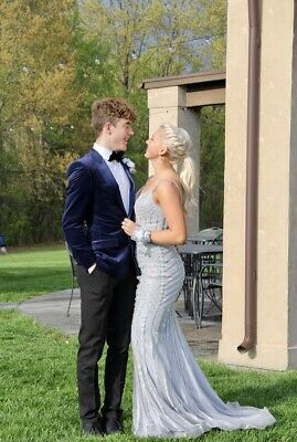 £143.79 • Buy Johnathan Kayne Prom Homecoming Pagent Dress Size 4 Silver