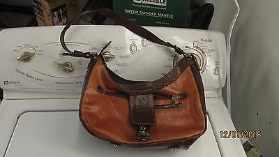 $4.99 • Buy Brown Leather M C Purse Hand Bag