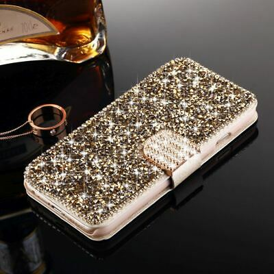 Luxury Bling Glitter Diamond Leather Wallet Flip Case For IPhone 7 8 Plus 6S 5C • 5.79£