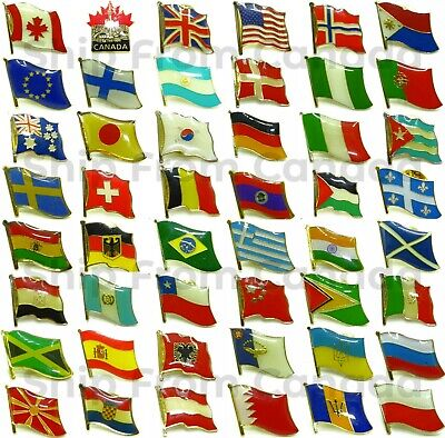 High Quality Country Flag Emblem Pin - Flag Lapel Pins - Flag Badge - New • 1.41£