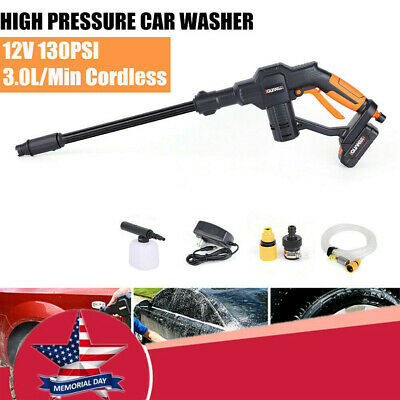 12V Portable Car Washing Machine Cordless Pressure Cleaner Mini Water Pump NEW • 80.80$