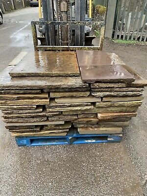 York Stone Paving Slabs/flags 1sqyd For £75 And Free Del(Can't B Beat On Price)! • 75£
