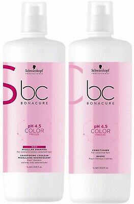 AU81.95 • Buy Schwarzkopf Bc Ph 4,5 Color Freeze Micellar Rich Shampoo 1 L And Conditioner 1 L