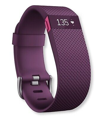 $ CDN50 • Buy Fitbit Charge HR Wireless Activity Wristband, Plum, Large