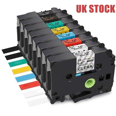Compatible Brother TZ Tze Label Tape Printer P-Touch Laminated 18mm 12mm 9mm X8m • 3.78£