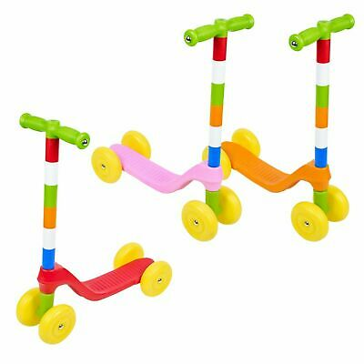 Child 4 Wheel Plastic Colorful Scooter Summer Fun Outdoor Play Beginner Toddler • 14.99£