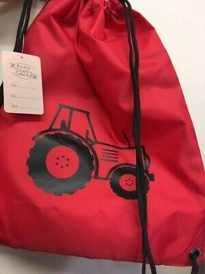AU16.01 • Buy British Country Collection Tractor Drawstring Bag, School, PE Kit, Backpack