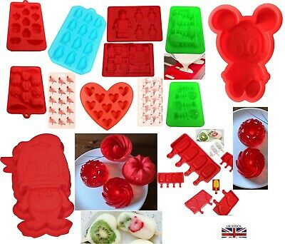 Chocolate Cake Jelly Candy Moulds,Ice Lolly, Ice Cube Tray High Quality Silicone • 3.99£
