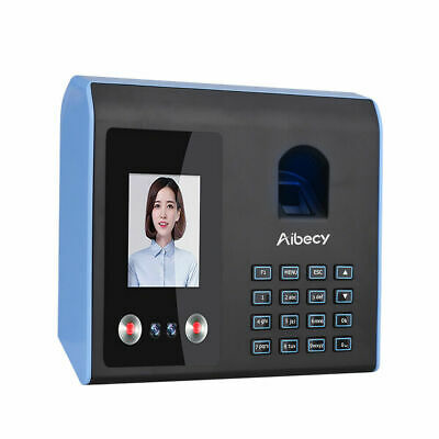 AIBECY Professional Facial Recognition Clocking In Machine Face Fingerprint UK • 125.95£