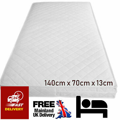 £25.55 • Buy Junior Bed Mattress Quilted Baby Cot Bed Mattres Waterproof Breathable 140x70x13