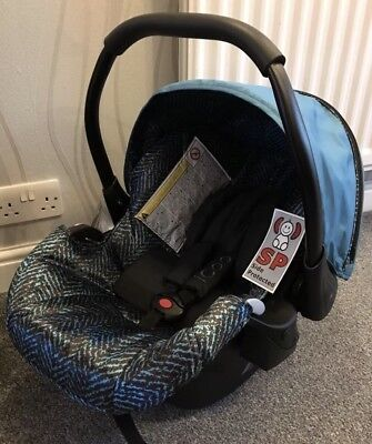 Brand New Hauck Icoo Rear Facing Infant Car Seat - Blue - Includes Cosytoes • 44.99£