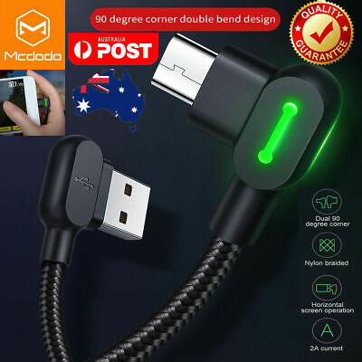 AU8.89 • Buy MCDODO 90 Degree Right Angle Micro USB Charging Charger Cable Samsung Android LG