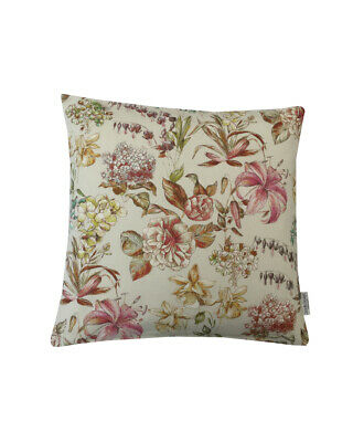 £7.99 • Buy Hand Made UK Country Flowers Decorative Cream Pink Green Floral Cushion Cover