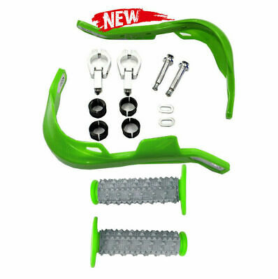 AU52.16 • Buy Green Handguard + Grips For Kawasaki KDX 200 220 250 400 450 KE 100 175