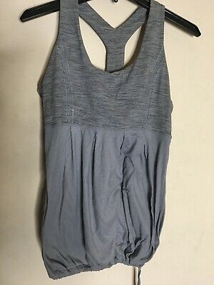 $ CDN33.02 • Buy Lululemon Womens Gray Tank Top Built In Bra Size 10 EUC