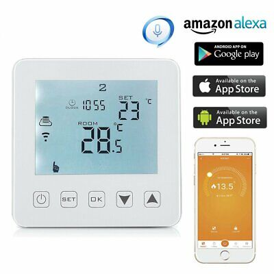 AU79.30 • Buy WiFi Thermostat Electric Heating LCD Smart Digital Controller Alexa Google Room