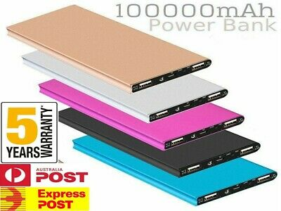 AU23.24 • Buy 100000mAh 2 USB Portable Slim LCD Power Bank External Battery Charger For Phone