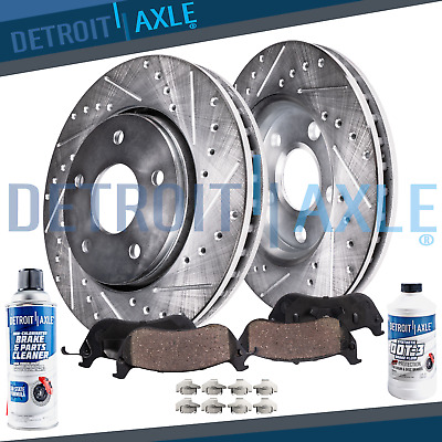 $89.50 • Buy Fits 2005-2012 Acura RL Front Drilled Slotted Rotors And Ceramic Brake Pads Kit