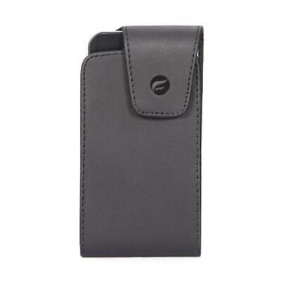 $11.72 • Buy BLACK LEATHER SIDE CASE COVER POUCH HOLSTER SWIVEL BELT CLIP R0F For SMARTPHONES