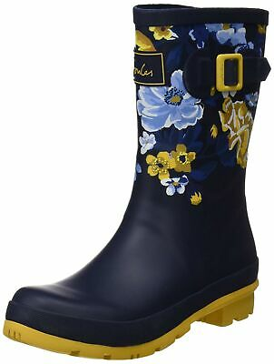 Joules Women's Molly Welly Navy Botanical Knee-High Rubber Rain Boot - 8M • 75.99$