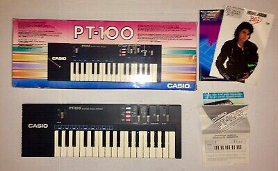$29.89 • Buy Vintage CASIO PT-100 32 Key Electronic Synthesizer Keyboard Cordless Tested