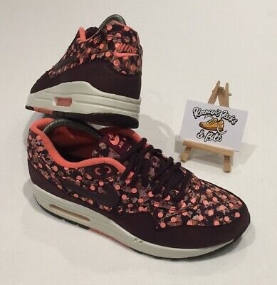Nike Air Max 1 Liberty Of London Burgundy Limited Edition UK 6 VINTAGE UNISEX • 63.99£