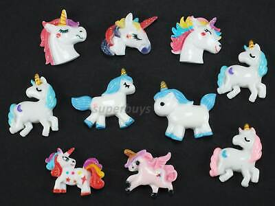 10pcs Unicorn Figurine For Cake Decoration Topper Figure Toy Decorate PVC Set • 5.58£