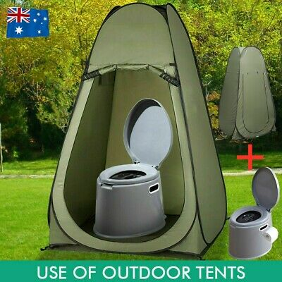 AU57.95 • Buy 6L Portable Potty Toilet Outdoor Camping Shower Tent Pop Up Privacy Change Room