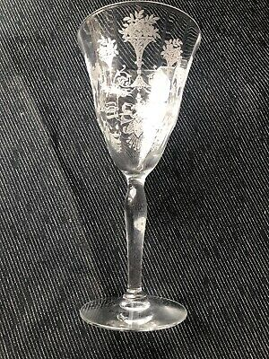 $5.95 • Buy Morgantown Glass Etched Mayfair Water Stem Goblet 6 Avail 7 3/4
