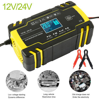 View Details Automatic Electronic Car Battery Charger 12V/24V Fast/Trickle/Pulse Modes 8 AMP • 24.59£
