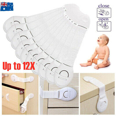 AU9.50 • Buy Child Kids Baby Safety Locks Door Drawers Cupboard Oven Cabinet Adhesive Belt AU