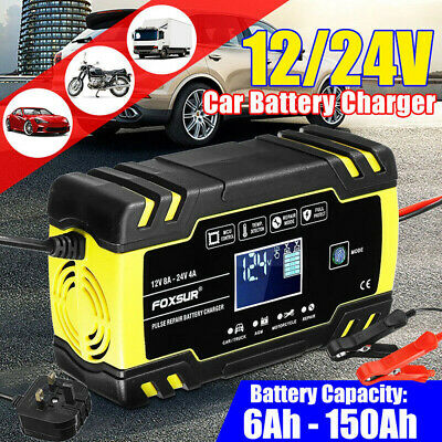View Details Automatic Intelligent Smart Car Battery Charger Pulse Repair Starter 12V 24V LCD • 21.98£