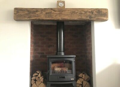 Wooden Mantle Mantel Mantelpiece Fire Surround Beam Timber 9  X 3  Free Fixings  • 126£