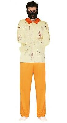 Mens Hannibal Lecter Costume Halloween Fancy Dress Horror Prisoner Outfit M/L • 18.99£