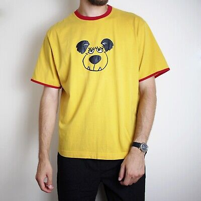 Vintage Iceberg History T-Shirt Made In Italy Mens Medium Yellow And Red Muttley • 72.99£